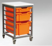 Metal Frame Tray Storage Units