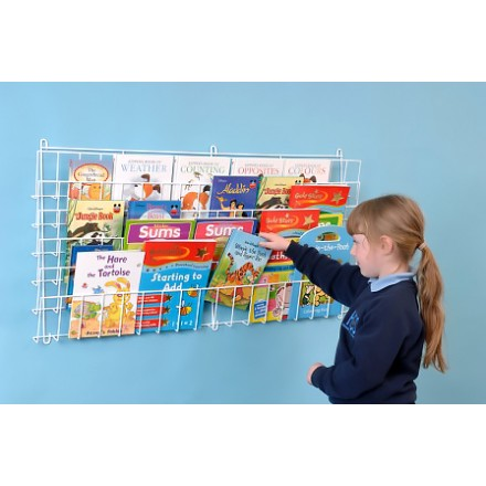 Horizontal Wall Book Rack