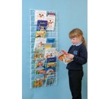 Vertical Wall Book Rack