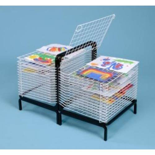 30 Shelf Spring Loaded Art Dryer