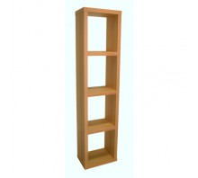 Maine 4 Shelf Narrow Bookcase