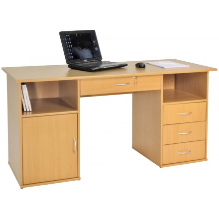 Dual Pedestal Computer Workstation - Dallas