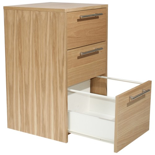 Oakwood 3 Drawer Pedestal