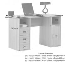Dual Pedestal Computer Workstation - Maryland