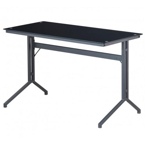 Splice Glass Top Computer Desk