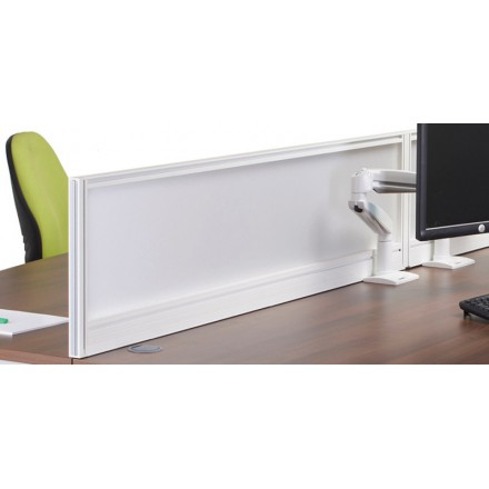 Glazed Deluxe Desk Screen with Frame