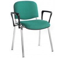 Taurus Fabric Stacking Chair Chrome Legs (set of 4)