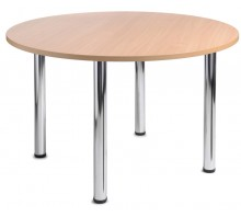 4 Chrome Leg Circular Table