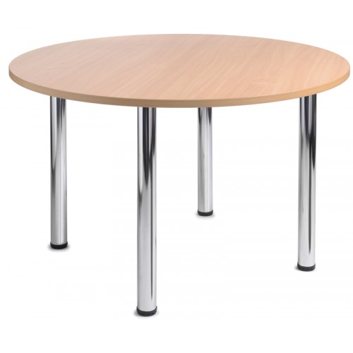4 Chrome Leg Circular Table