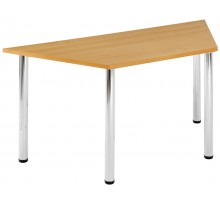 4 Chrome Leg Trapezoidal Table
