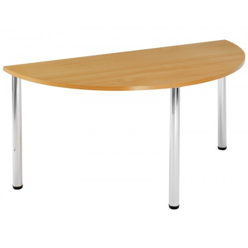 4 Chrome Leg Semi-Circular Table