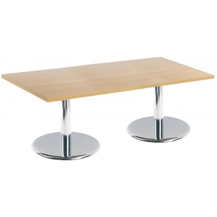 Pisa Rectangular Coffee Table With Trumpet Base