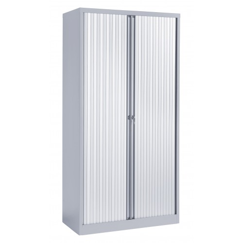 High Steel Tambour Cupboard