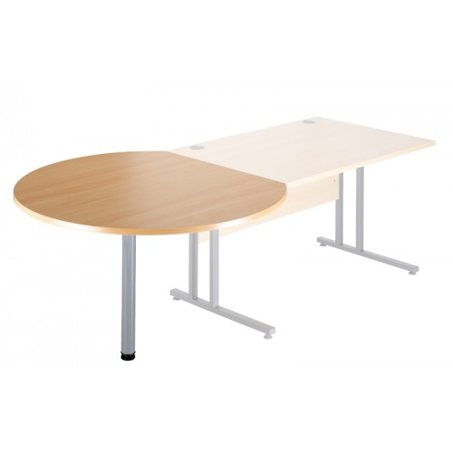 Desk End Meeting Table with Radial Leg