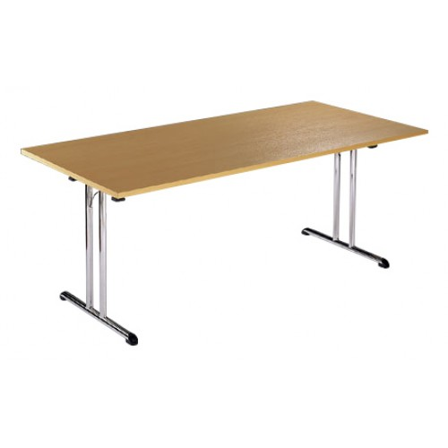 Rectangluar Folding Chrome Leg Table