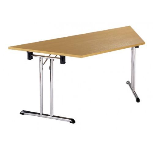 Trapeziodal Folding Chrome Leg Table