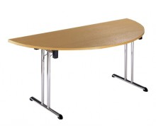 Semi Circular Folding Chrome Leg Table
