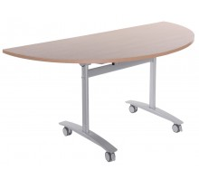 Semi-Circular Flip-Top Table
