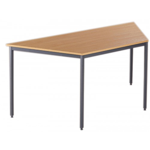 Graphite or Silver Leg Trapezoidal Tables