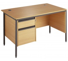 Straight Single 2 Drawer Pedestal Desk