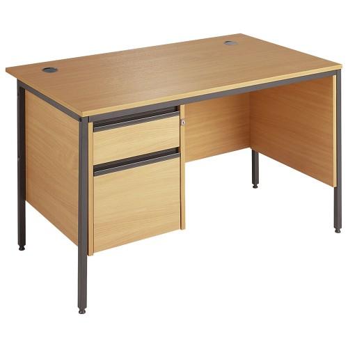 Straight Single 2 Drawer Pedestal Desk