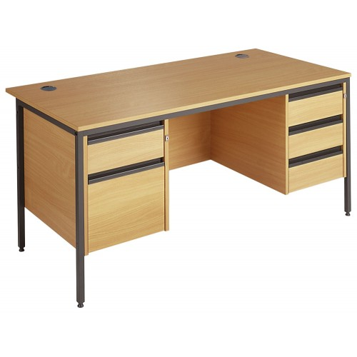 Straight Double Pedestal Desk