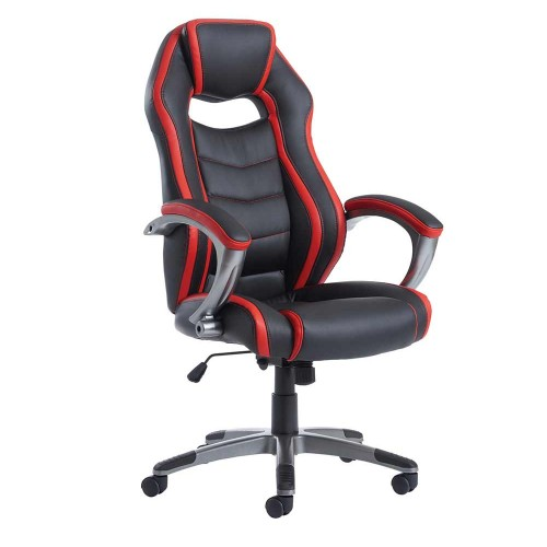Jensen High Back Executive Leather Chair With Arms
