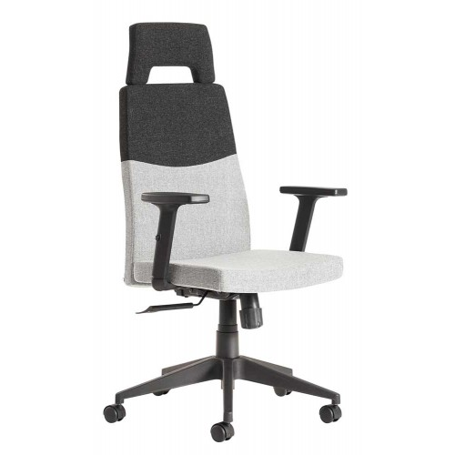 Leon High Back Managers Fabric Chair With Arms