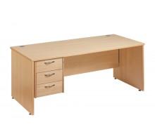Straight 25 PL Single Pedestal Desk