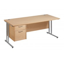 Straight 25 xL C Frame Single Pedestal Desk