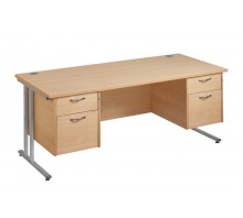 Straight 25 xL C Frame Double Pedestal Desk
