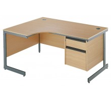 Ergonomic Cantilever Pedestal Desk