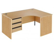 Ergonomic Panel Pedestal Desk