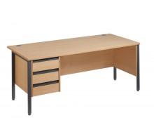 Straight 25 GL H Frame Single Pedestal Desk