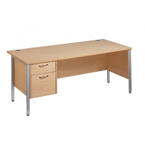 Straight 25 SL H Frame Single Pedestal Desk
