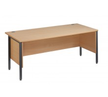Straight 25 GL H Frame Desk with Side Modesty Panels