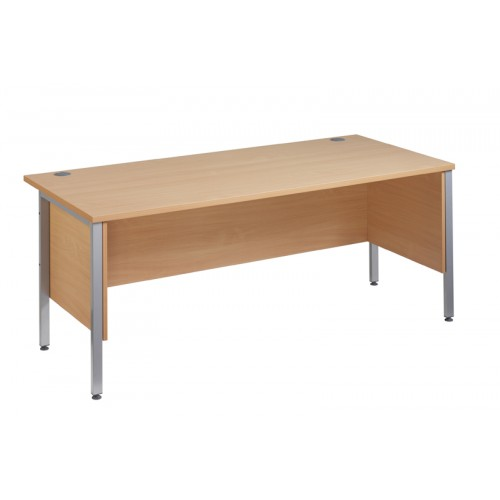 Straight 25 SL H Frame Desk with Side Modesty Panels