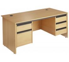 Straight Panel Double Pedestal Desk