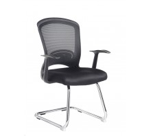 Solaris Mesh Back Cantilever Chair with Arms
