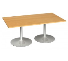 Trumpet Base Rectangular Boardroom Table