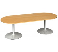 Trumpet Base Radial End Boardroom Table