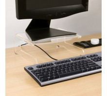 Fixed Height Acrylic Monitor Stand 550