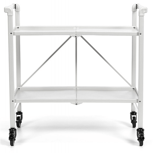 INTELLIFIT Outdoor Or Indoor Folding Serving Cart with 2 Shelves
