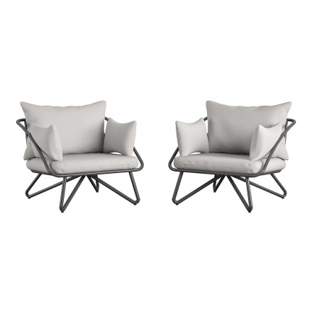 Teddi Outdoor Lounge Chairs (Set of 2)