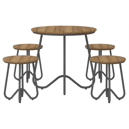 Bobbi 5 Piece Bistro Set