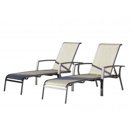Serene Ridge aluminum chaise lounge (set of 2)