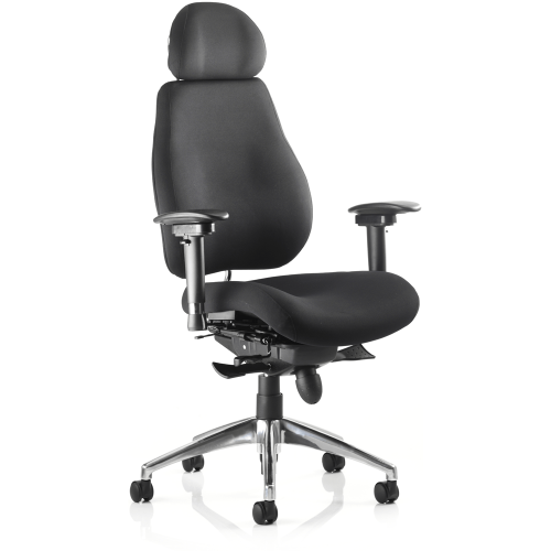 Chiro Plus Ergo Posture Chair with Arms and headrest
