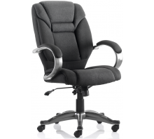Galloway High Back Fabric Executive Chair with Arms