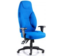 Galaxy High Back Fabric Task Operator Chair with Arms