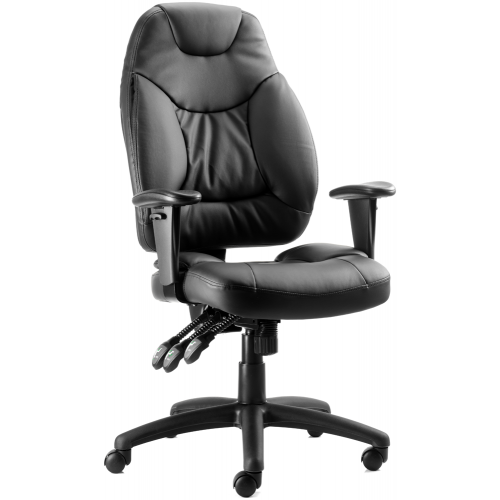 Galaxy Medium Back Leather Task Operator Chair with Arms